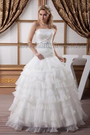 Stunning Strapless Beaded Ball Gown Wedding Dresses