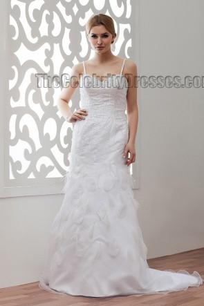 Sweep/Brush Train Spaghetti Straps Sequins Wedding Dresses