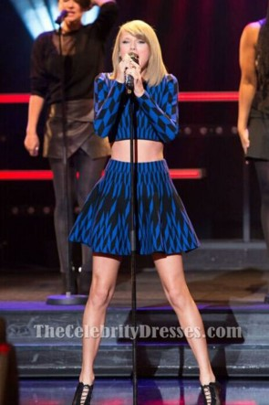 Taylor Swift Short Long Sleeves Two Piece Party Homecoming Dresses TCDTB6206