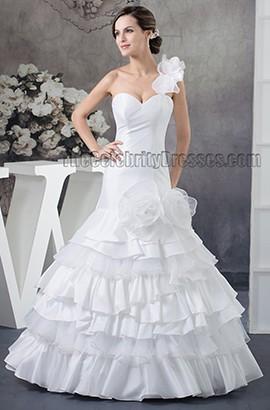 Trumpet/Mermaid One Shoulder Floor Length Wedding Dresses