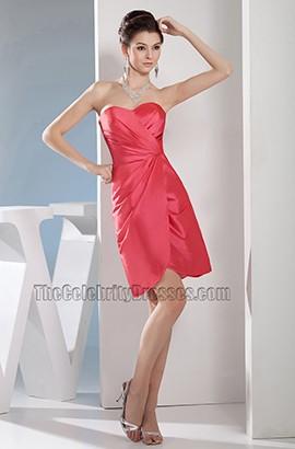 Watermelon Sweetheart Short Party Bridesmaid Homecoming Dresses