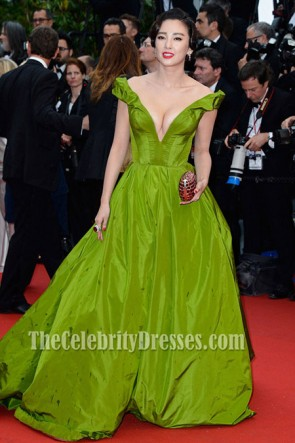Zhang Yuqi Green Prom Dress Cannes Film Festival Opening Ceremony