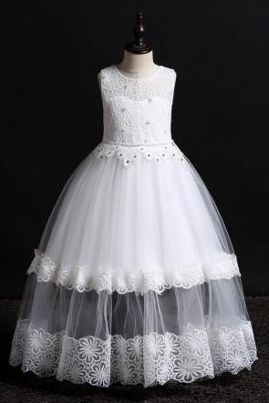Ball-Gown Floor-length Flower Girl Dress