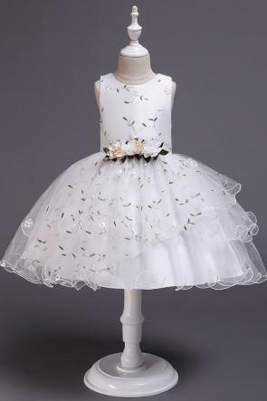 Ball-Gown Organza Flower Girl Dress