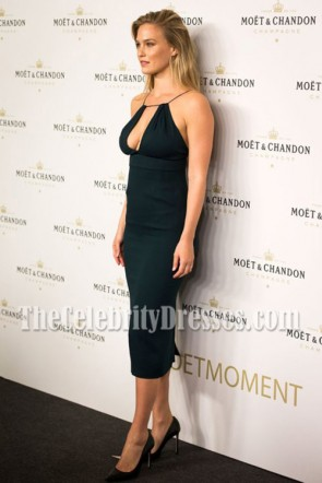 Bar Refaeli - Robe de soirée moulante noire Moet & Chandon Party