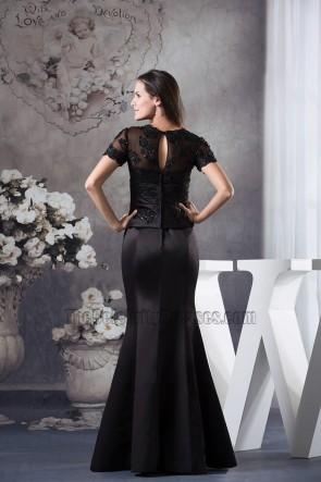 Black Mermaid V-Neck Floor Length Prom Gown Formal Dress