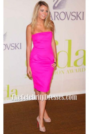 Blake Lively Fuchsia Cocktail Party Dress Gossip Girl CFDA Fashion Awards 2009
