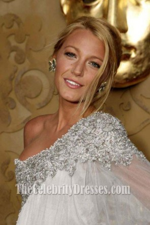 Blake Lively Embrodery Prom Gown Formal Evening Dresses BAFTA