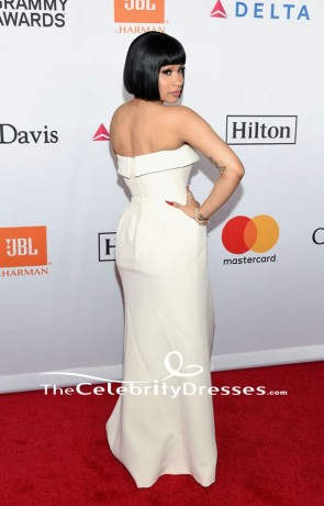 Cardi B robe de soirée bustier pré-Grammy Gala Salut à JAY-Z