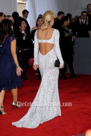 Carrie Underwood Robe de bal Grammy Awards 2012 rouge tapis