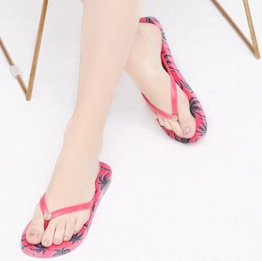 Casual Flower Print Flat Sliders