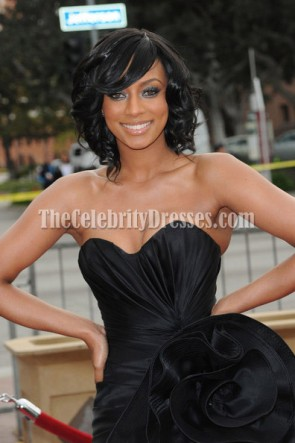 Robe de bal noire Keri Hilson 41e NAACP Image Awards Red Carpet