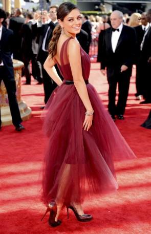 Robes de Célébrité Mila Kunis Robes de bal 2009 Emmy Awards Red Carpet