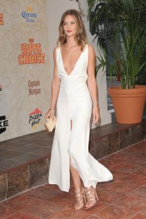 Rosie Huntington Whiteley White Evening Dress Spike TV Guys Choice Awards 2011