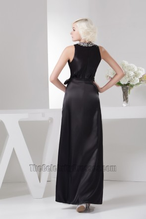 Celebrity Inspired Black And White Formal Dress Evening Prom Gown