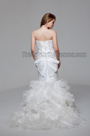 Celebrity Inspired Strapless Mermaid Wedding Dress With Beading