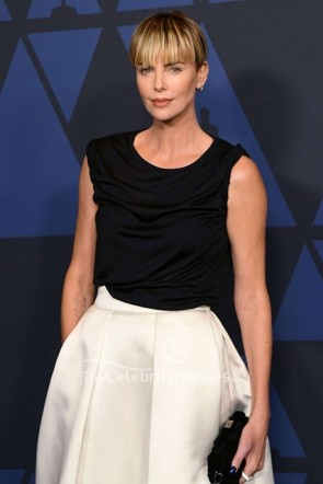 Charlize Theron Two-tone Ball Gown 2019 Governors's Awards TCD8723