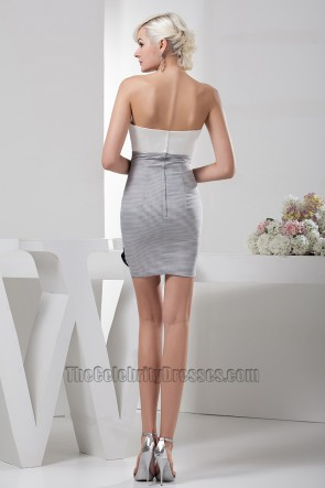 Chic Sheath Strapless Party Cocktail Homecoming Dresses