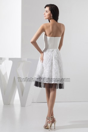 Chic Strapless A-Line Cocktail Party Homecoming Dresses