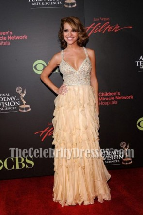 Chrishell Stause Discount Formal Dress 38th Annual Daytime Emmy Awards Red Carpet Gown 1