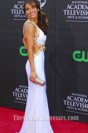 Chrishell Stause robe de soirée blanche 36e annuelle Emmy Daytime Awards