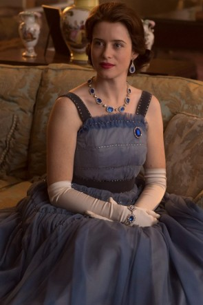 Claire Foy Blue Ball Gown The Crown