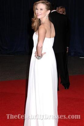 Danielle Panabaker White Evening Dress 7th Annual White House Correspondents' Association Dinner