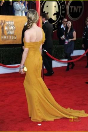 Diane Kruger Robe jaune formelle 2010 Prix SAG Red Carpet