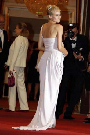 Diane Kruger Une robe de bal d'épaule 65e Venise Mostra Robes de soirée