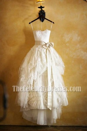 Discount Custom Made Lace Wedding Dress