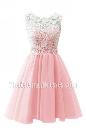 Discount Short Pearl Pink A-Line Homecoming Party Dress