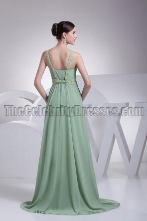 Discount A-Line Chiffon Bridesmaid Prom Evening Dresses