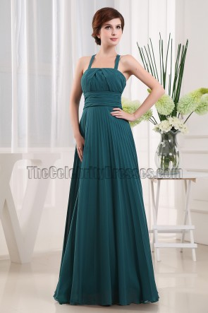 Discount A-Line Chiffon Prom Gown Evening Bridesmaid Dresses
