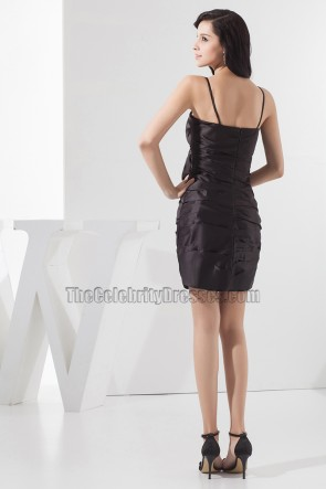 Discount Spaghetti Straps Ruffles Short Party Little Black Dresses