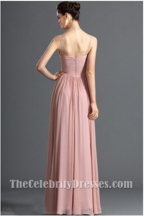 Discount V-cou en mousseline de soie robe de bal robes de soirée formelle