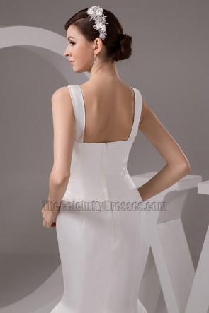 Discount V-Neck Trumpet /Mermaid Floor Length Wedding Dresses