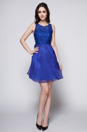 Discount Short Mini Royal Blue Party Homecoming Dresses