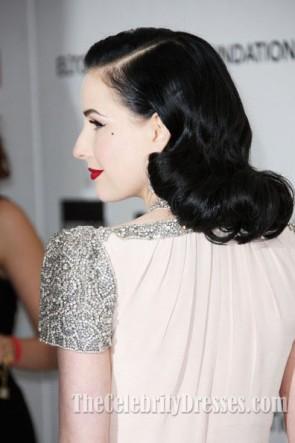 Dita Von Teese robe de bal 20e soirée annuelle d'observation des Oscars de la Fondation Elton John AIDS