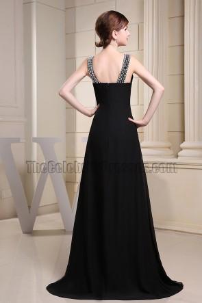 Elegant Black Evening Dress Prom Formal Dresses With Beading