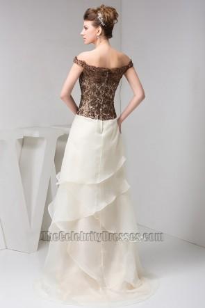 Elegant Off-the-Shoulder Formal Gown Evening Prom Dresses