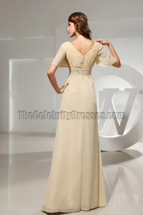 Elegant V-neck Chiffon Formal Dress Evening Prom Gown