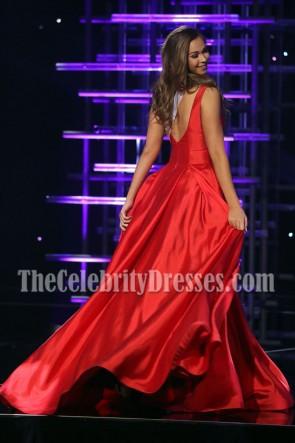 Robe de soirée rouge Ellie Picone 2016 Miss Teen USA Competition