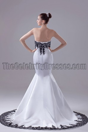Embroidery Strapless Mermaid Formal Gown Pageant Dresses
