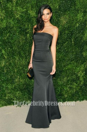 Emily Ratajkowski Black Evening Dress CFDAVogue Fashion Fund Awards
