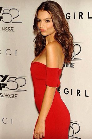 Emily Ratajkowski Red Evening Dress 'Gone Girl' World Premiere
