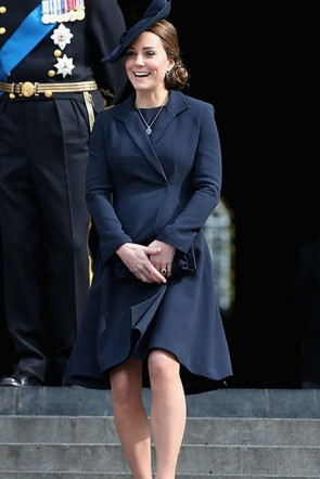 Kate Middleton Dark Navy Maternity Coat For Sale