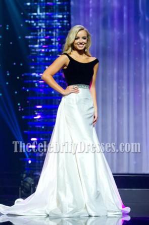 Erin Snow deux tons Off-the-épaule soirée robe de bal 2016 Miss Teen USA Competition