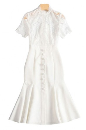 Fan Bingbing White Mermaid Pary Dress TCD8877