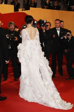 Robes de Célébrités Fan Bingbing white prom dress Festival de Cannes 2011