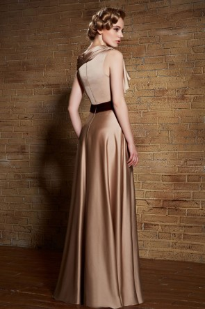 Floor Length Champagne Formal Dress Evening Prom Gowns TCDC30880